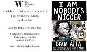 Dean Atta invite
